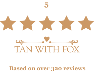 5 star reviews - Gold text