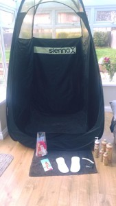 Spray Tan tent and set up